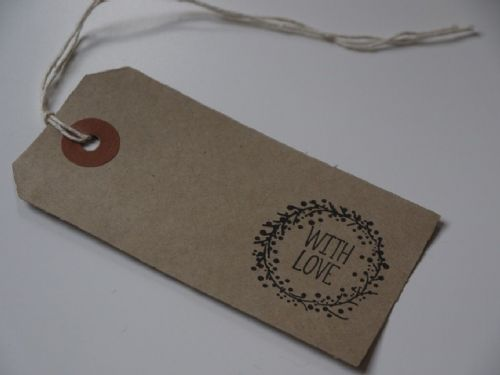'With Love' Wreath Tag 10pk